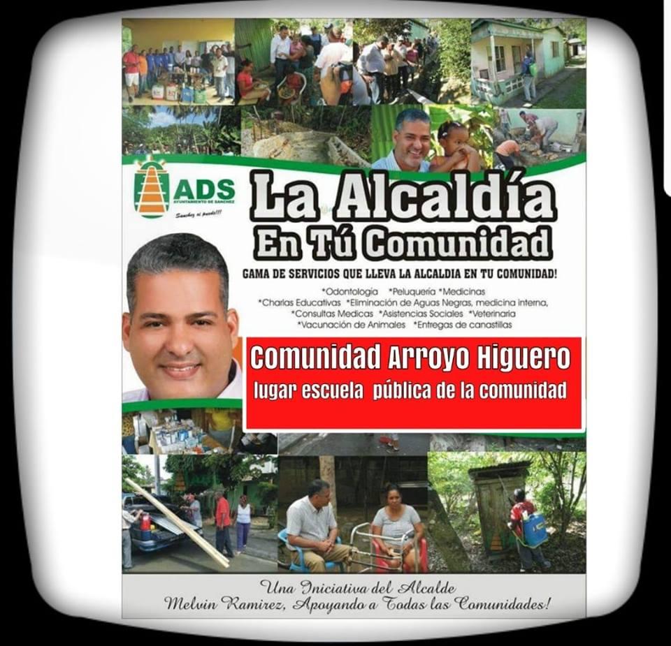 Alcaldía inicia mañana operativo en la comunidad Arroyo Higuero