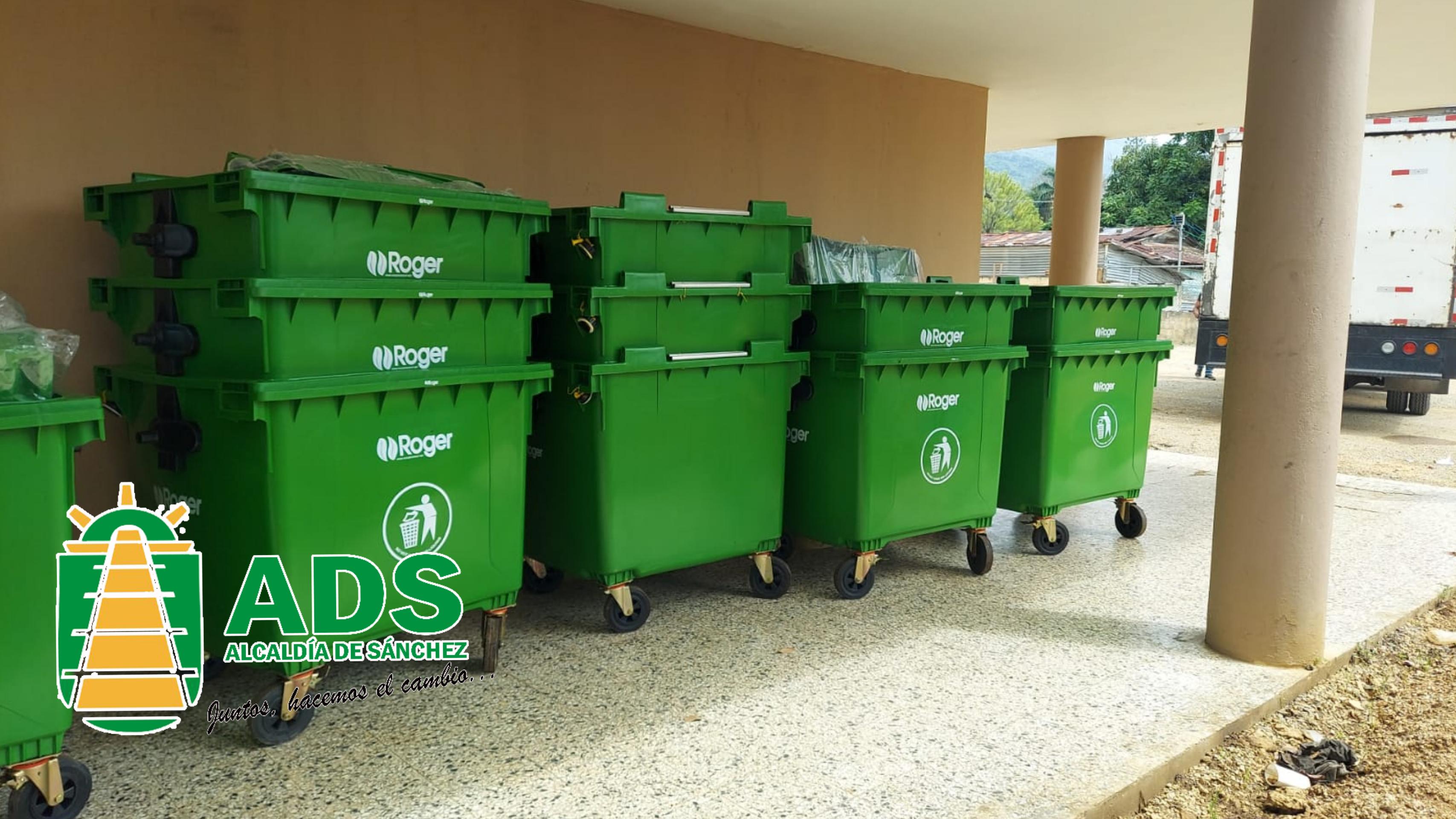 Alcaldía adquiere más contenedores para el servicio de recolección de los desechos sólidos.